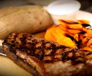 Grilled Steak and Glazed Carrots